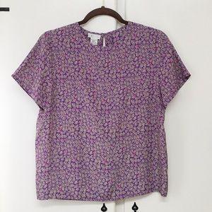 Hana Sung Tops - Hana Sung Vintage Floral Blouse Size S